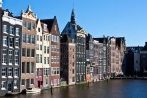 El centro histórico de la ciudad de Amsterdam