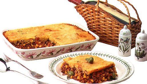 receta de cocina, Pastel de carne y choclos