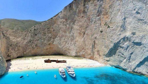 playa del Naufragio en Grecia